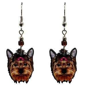 CUTE Yorkie Earrings Handmade Yorkshire Dog Unique